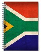 South Africa Flag Vintage Distressed Finish Spiral Notebook