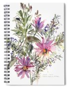 South African Daisies And Lavander Spiral Notebook