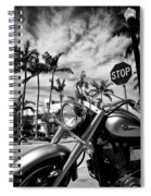 South Beach Cruiser Spiral Notebook