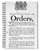 South Carolina, 1780 Spiral Notebook