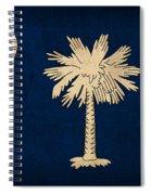 South Carolina State Flag Art On Worn Canvas Spiral Notebook