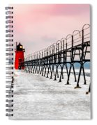South Haven Light And Pier Spiral Notebook