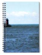 South Haven South Pierhead Light Spiral Notebook