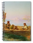 South Italian Fishing Scene Spiral Notebook