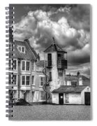 South Lookout Tower Aldeburgh Black And White Spiral Notebook