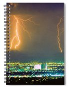South Mountain Lightning Strike Phoenix Az Spiral Notebook