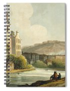 South Parade From Bath Illustrated Spiral Notebook
