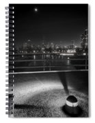South Pond With Chicago Skyline Spiral Notebook