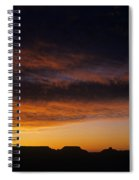 South Rim Grand Canyon Dramatic Clouds Sunset With Silhouetted R Spiral Notebook