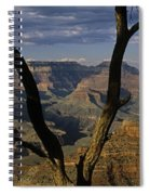 South Rim Grand Canyon Sunset Light On Rock Formations With Woma Spiral Notebook