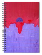 South Rim Sun Original Painting Spiral Notebook