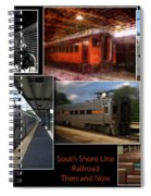 South Shore Line Railroad Collage Spiral Notebook