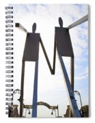 South Street Stick Men Statue Spiral Notebook