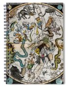 Southern Celestial Planisphere 1790 Spiral Notebook