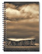 Southern Ocean In Black And White Spiral Notebook