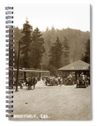 Southern Pacific Depot At Brookdale Santa Cruz Co. Cal. Circa 1910 Spiral Notebook