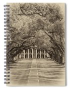 Southern Time Travel Sepia Spiral Notebook