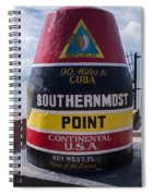 Southernmost Point Marker Spiral Notebook