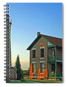 Southport Lighthouse On Simmons Island Spiral Notebook
