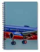 Southwest 737 Landing Spiral Notebook