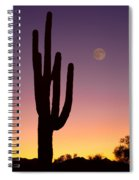 Southwest Desert Moon Glow Spiral Notebook