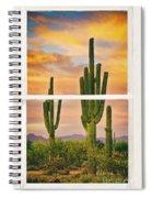 Southwest Desert Sunset White Rustic Distressed Window Art Spiral Notebook
