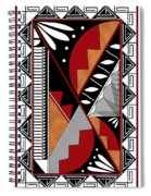 Southwest Collection - Design Seven In Red Spiral Notebook