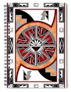 Southwest Collection - Design Six In Red Spiral Notebook