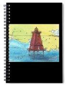 Southwest Reef Lighthouse La Nautical Chart Map Art Cathy Peek Spiral Notebook