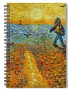 Sower Of Squiggles Spiral Notebook