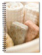 Spa Basket With Soaps Spiral Notebook