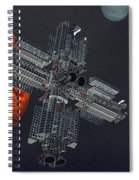 Space Colony Spiral Notebook