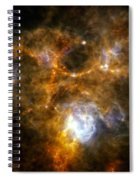 Space Dust Cloud Ngc 7538 Spiral Notebook