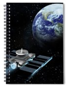 Space Exploration, Earth, Illustration Spiral Notebook