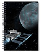 Space Exploration, Moon, Illustration Spiral Notebook