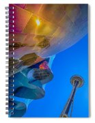 Space Needle And Emp In Perspective Hdr Spiral Notebook