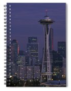Space Needle At Twilight Spiral Notebook