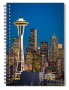 Space Needle Evening Spiral Notebook