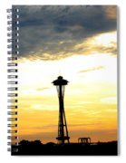 Space Needle Sunset Sillouette Spiral Notebook