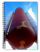 Space Shuttle Fuel Tank And Boosters Spiral Notebook