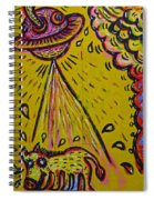 Spaceship Dog Graffiti Spiral Notebook