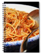 Spaghetti And Meat Sauce With Spoon Spiral Notebook