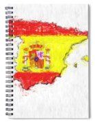 Spain Painted Flag Map Spiral Notebook