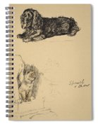 Spaniel And Chow, 1930, Illustrations Spiral Notebook