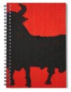 Spanish Black Bull Spiral Notebook