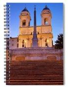 Spanish Steps Dawn Spiral Notebook