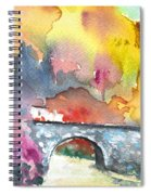 Spanish Village By The River 01 Spiral Notebook