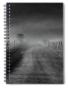 Sparks Lane In Black And White Spiral Notebook