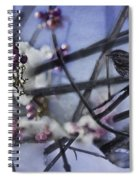 Sparrow And The Beauty Berry Spiral Notebook