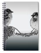 Sparrow Digital Art Spiral Notebook